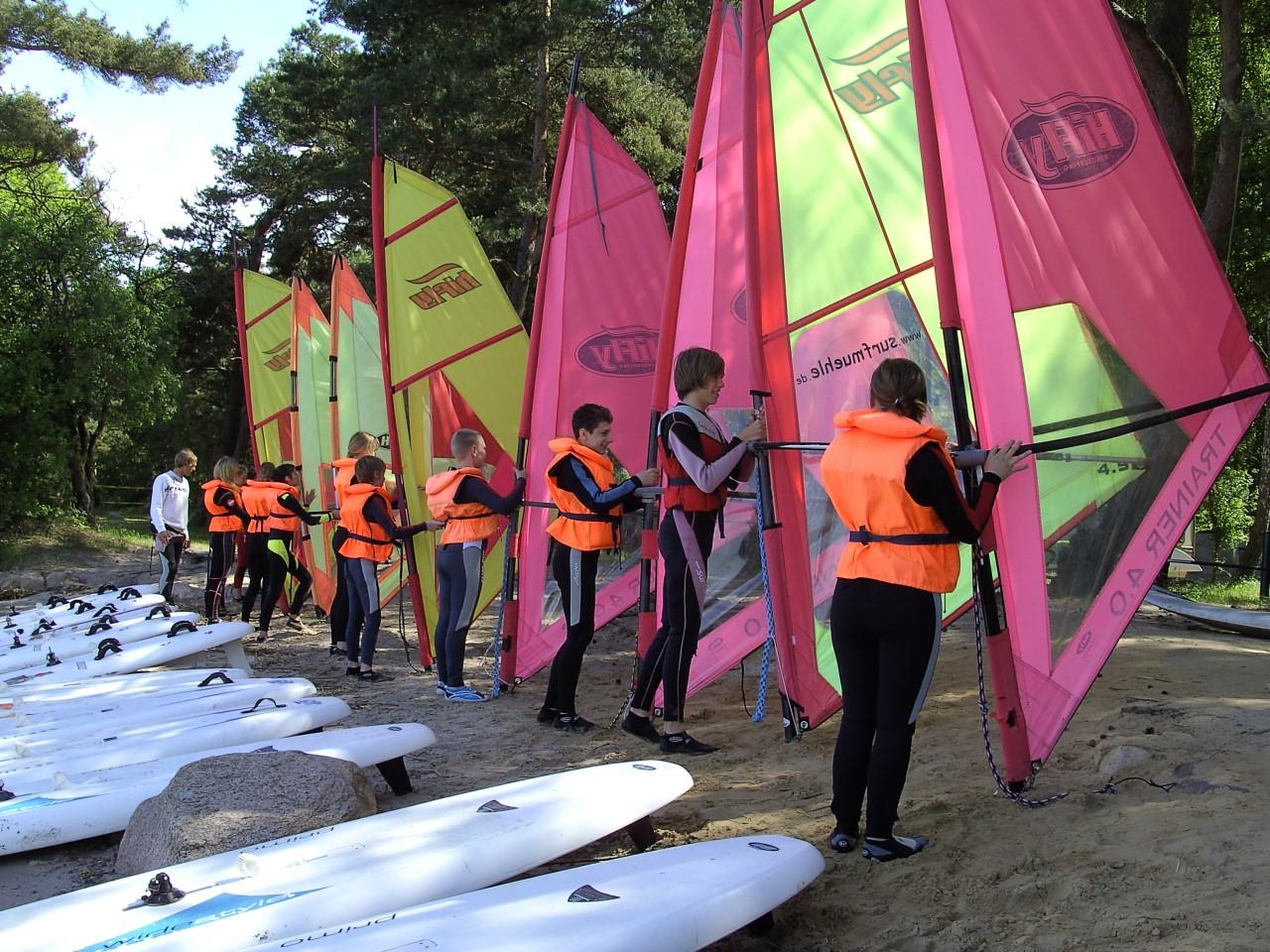Katamaran- und Surfmühle